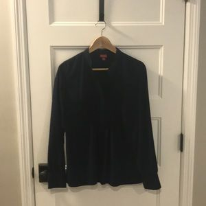 Navy, long sleeved blouse